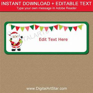 santa address labels santa return address label template With instant return address labels