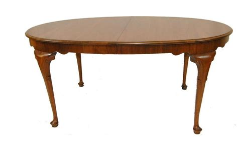 baker dining room table georgia style queen anne walnut oval dining room table by
