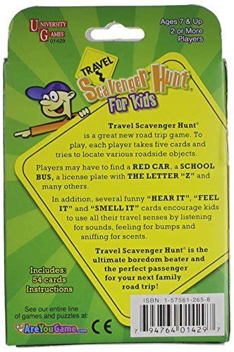 travel scavenger hunt  kids card game  deals toys