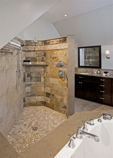 open showers transitional bathrooms designs remodeling htrenovations