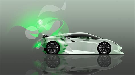 4k Lamborghini Sesto Elemento Side Glamour Girl Style Car
