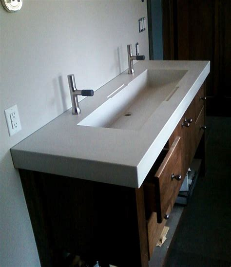 crafted custom concrete sinks by masonry and metal l