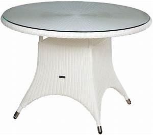 Tisch Rund Glas : zebra tisch rund 1 1m hastings esstisch alu polyrattan artjardin ~ Frokenaadalensverden.com Haus und Dekorationen