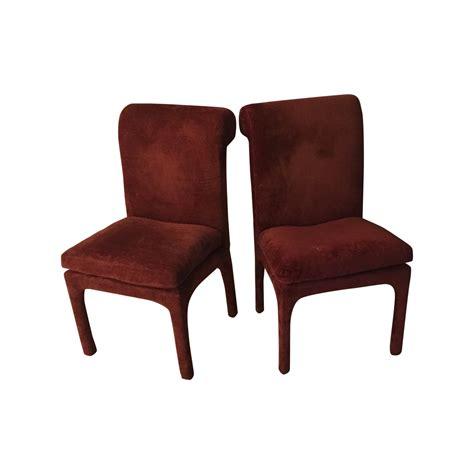 thayer coggin vintage maroon chairs a pair chairish