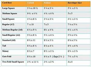 Card And Envelope Size Chart Card Sizes Card Envelopes