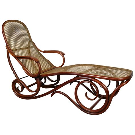 chaise n 14 thonet thonet bentwood chaise lounge at 1stdibs