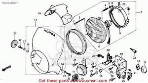 Honda Tlr200 Reflex 1986  G  Usa California Headlight