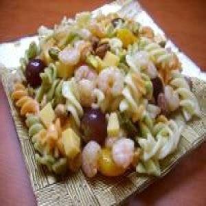 salade de pates aux crevettes et au fromage choumicha cuisine marocaine choumicha recettes