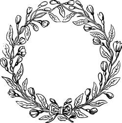 magnolia leaf wreath free vector file and clip image vintage floral