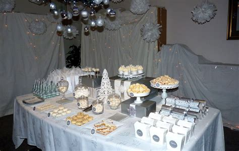 pretty table   winter theme party