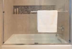 tiling a bathtub alcove guest bath the kohler archer tub shower is designed to