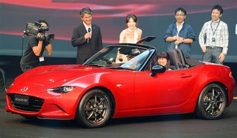 mazda motor corp mazda unveils new miata as top selling two seat roadster