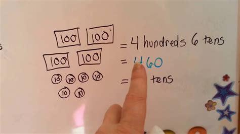 grade  math chapter  regroup hundreds tens youtube