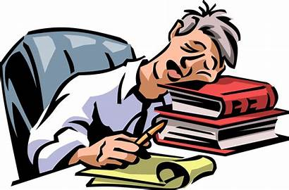 Tired Office Exhausted Overworked Worker Vector Illustration