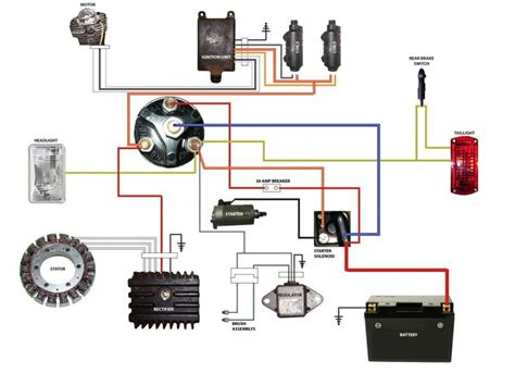 simplified wiring diagram  xs cafe motorcycle