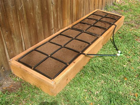 raised garden bed kit 2x8 raised garden kit w watering system gardeninminutes