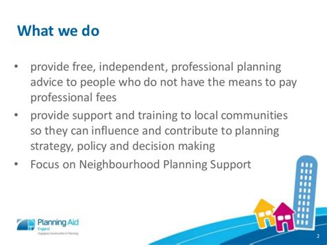 what does extensive experience mean planning aid england neighbourhood planning presentation