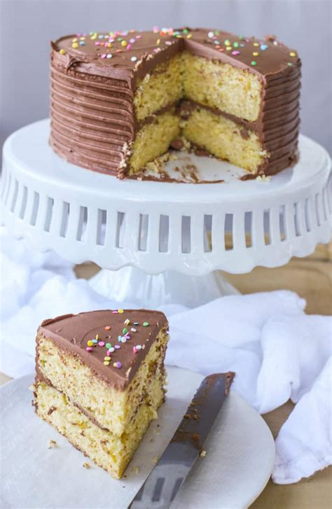 ingredient moist yellow cake  chocolate buttercream