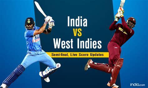 India Vs West Indies Cricket Live Score, Mumbai Updates