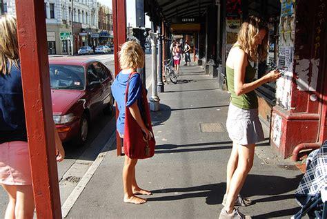 barefoot aussie hipster girl in the austral summer, brunsw ...