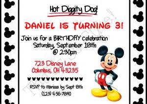 Mickey Mouse Birthday Invitation Printable Free