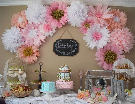 shabby chic birthday decorations shabby chic flowers birthday quot paisley s shabby chic first birthday quot catch my party