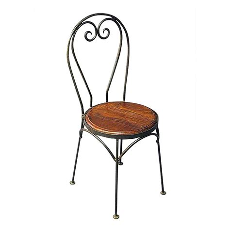 chaises fer forg chaise bistrot motif coeur meuble fer forgé et palissandre