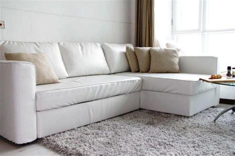White Leather Sofa Bed Ikea by Ikea White Leather Sofa Rooms
