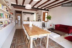 chic apartment in barcelona39s l39eixample district With kitchen design for long narrow room