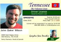 Tennessee Drivers License Template by 404 Not Found