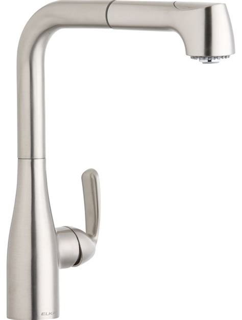 kitchen faucet gpm 1 5 gpm l spout kitchen faucet brushed nickel