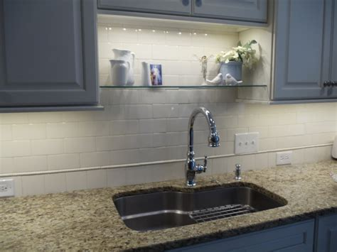 an idea for sink shelf that won t interfere with new