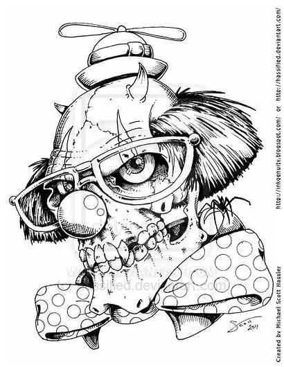 Tattoo Clown Killer Jester Designs Deviantart Outlines