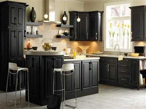 Distressed Black Kitchen Cabinets Of Best Colors For