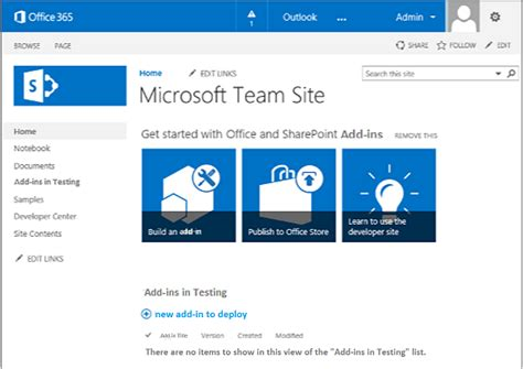 si e microsoft get started creating provider hosted sharepoint add ins