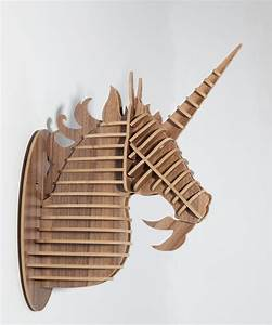 Unicorn, Head, Ornament, Animal, Wood, Carving, Decorative, Items, Unicorn, Home, Decor, Mdf, Diy, Craft, Home