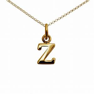 gold letter z necklace from lily charmed With letter z pendant