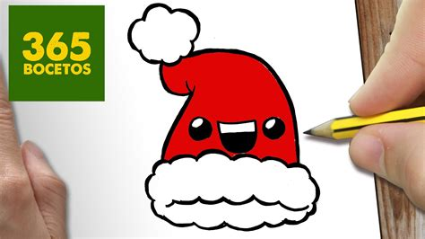 como dibujar un gorro para navidad paso a paso dibujos kawaii navide 241 os how to draw a hat