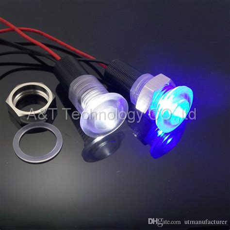 2017 custom made white led signal light 12v blue indicator