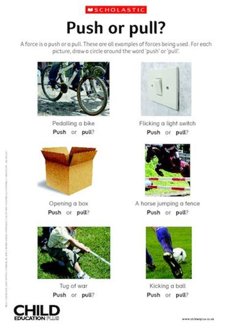 push or pull forces primary ks1 ks2 teaching