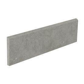 bullnose tile lowes style selections mitte gray glazed porcelain bullnose tile