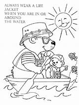 Coloring Water Safety Pollution Printable Colorear Dibujos Educational Seguridad Agua Template Imprimir Gratis sketch template