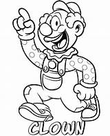 Coloring Clown Professions Printable Sheets Topcoloringpages Cartoon Funny sketch template
