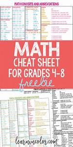 Math Cheat Sheet  Free Homeschool Math Resource For Grades 4