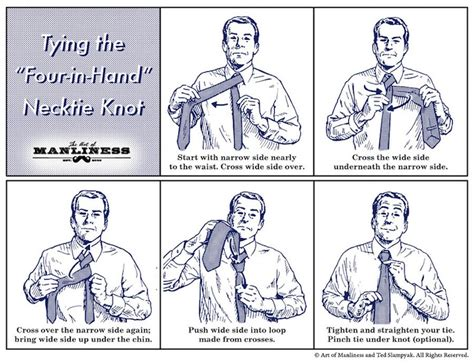 How To Tie A Four In Hand Necktie Knot Agreeordie