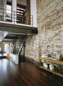 Elegant modern and classy interiors with brick walls