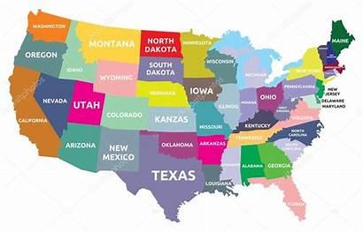 Kaart Stockillustratie Staten Branchecarica Depositphotos