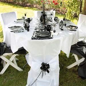 Decoration De Table De Mariage : table mariage noir et blanc ~ Melissatoandfro.com Idées de Décoration
