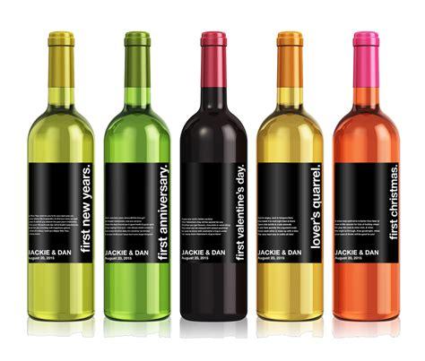 wine bottle wedding milestones wine label custom wine label