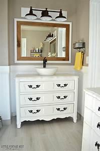 old dresser turned bathroom vanity tutorial With how to make a bathroom vanity from a dresser